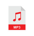 mp3 format file vector image