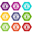 net control icons set 9 vector image vector image
