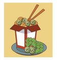 noodles fast food vector image vector image