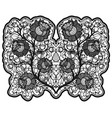 openwork bouquet of roses on white background vector image