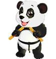 panda with nunchaku vector image