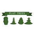 paper trendy flat trees set vector image vector image