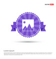 picture icon - purple ribbon banner vector image vector image