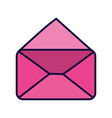 pink open envelope message mail icon vector image