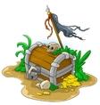 Pirate treasure chest vector image vector image