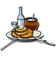 potato pancakes vector image vector image