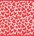 red heart shape love cartoon seamless pattern vector image vector image