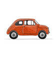 retro red car sketch for your design vector image