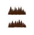 retro-style pine forest silhouette design vector image vector image