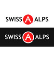 round logo of swiss alps vector image vector image