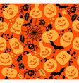 Seamless pattern of halloween vector image vector image