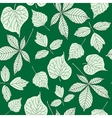Seamless pattern with hand-drawn leaves vector image vector image