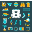 set icons volleyball vector image vector image