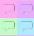 set pastel speech bubbles vector image