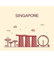 Singapore City skyline Trendy line art vector image vector image