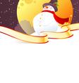 snowman vector image vector image