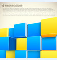 structure from cubes business background vector image vector image