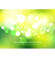 Summer magical background with blurred bokeh vector image vector image