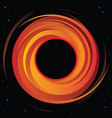 supermassive black hole vector image