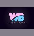 wb alphabet letter join joined letter logo design vector image vector image