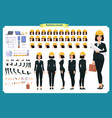 woman architect in business suit and protective he vector image