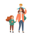 young stylish mother or nanny babysitter walking vector image