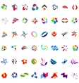 48 different abstract trendy symbols vector image