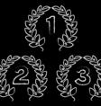 hand drawn laurel wreaths vector image