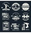 Work Tools Monochrome Emblems vector image