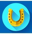 Golden Horseshoe icon Flat design style vector image