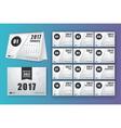 12 month desk calendar template for print design vector image