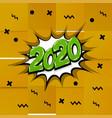 2020 comic text calendar template pop art vector image
