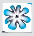 3d flower shape gradient color shape abstract art vector image vector image
