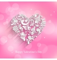 abstract floral heart background vector image vector image