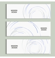 abstract swirl set Design background vector image