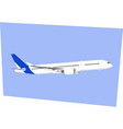 airbus a350 jet plane in blue sky vector image