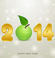 apple christmas background 2014 vector image vector image