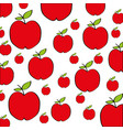 apples pattern fresh fruit drawing icon vector image