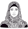 arab girl outline vector image vector image