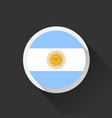 argentina national flag on dark background vector image vector image