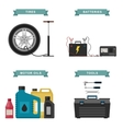 Auto parts flat icons vector image