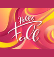 autumn banner with hand lettering label vector image vector image