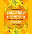 autumn harvest festival fall season banner design vector image vector image
