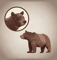 bear drawing over brown background vector image vector image