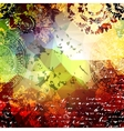 Blank background with grunge elements vector image vector image