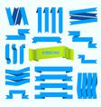 blue ribbons set retro styled ribbons vector image