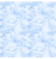 Blue seamless pattern of crumpled paper vector image vector image