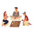 board game or play cards family entertainment and vector image