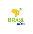 brasil 2014 vector image vector image