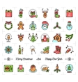 Christmas icons set New Year symbols Winter vector image vector image